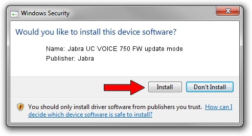 Jabra Jabra UC VOICE 750 FW update mode setup file 1421347