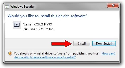 KORG Inc. KORG Pa3X driver installation 1444140