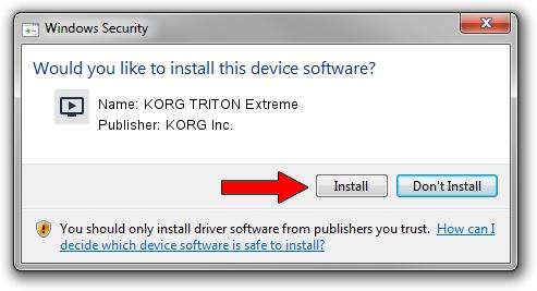 KORG Inc. KORG TRITON Extreme setup file 1444058