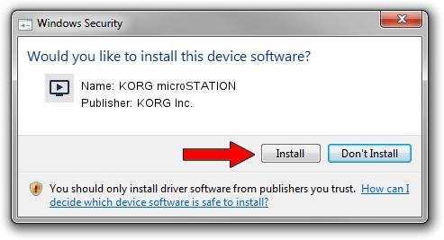 KORG Inc. KORG microSTATION driver installation 1052303