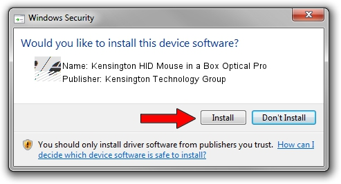 Kensington Technology Group Kensington HID Mouse in a Box Optical Pro driver installation 1440590