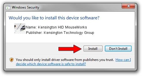 Kensington Technology Group Kensington HID MouseWorks driver installation 1429498