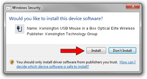 Kensington Technology Group Kensington USB Mouse in a Box Optical Elite Wireless driver installation 1431642