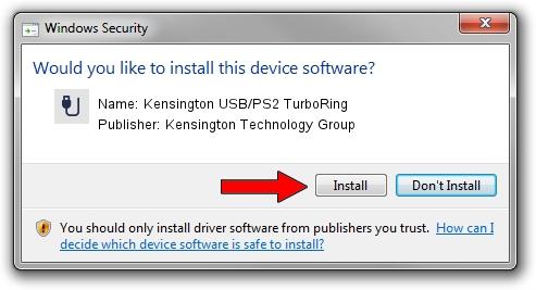 Kensington Technology Group Kensington USB/PS2 TurboRing setup file 1381425
