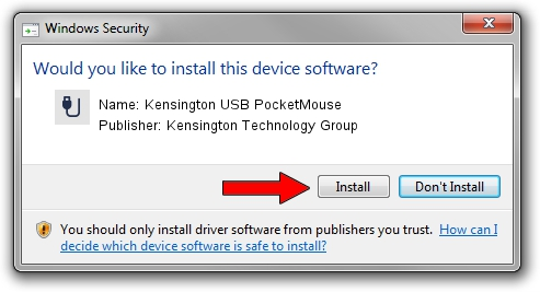 Kensington Technology Group Kensington USB PocketMouse driver installation 1431597