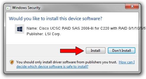 LSI Corp. Cisco UCSC RAID SAS 2008-8i for C220 with RAID 0/1/10/5/50 driver installation 648191