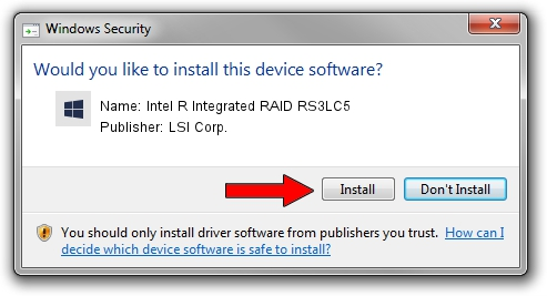 LSI Corp. Intel R Integrated RAID RS3LC5 setup file 245283
