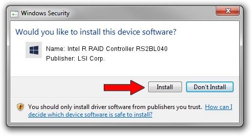 LSI Corp. Intel R RAID Controller RS2BL040 driver installation 245318