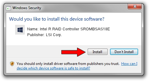 LSI Corp. Intel R RAID Controller SROMBSAS18E driver installation 245339
