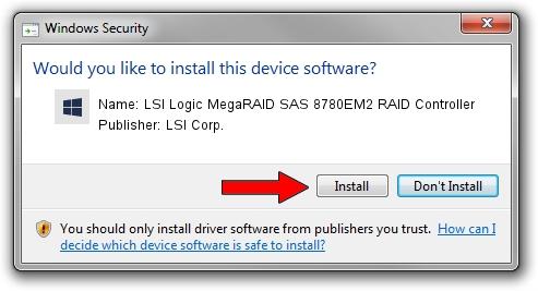 LSI Corp. LSI Logic MegaRAID SAS 8780EM2 RAID Controller driver installation 245106