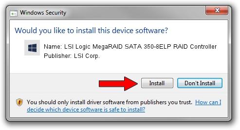 LSI Corp. LSI Logic MegaRAID SATA 350-8ELP RAID Controller driver installation 1423058
