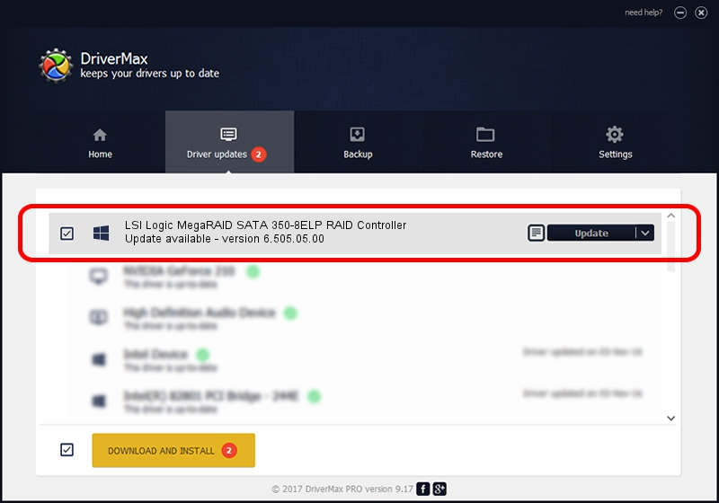 LSI Corp. LSI Logic MegaRAID SATA 350-8ELP RAID Controller driver update 1395127 using DriverMax
