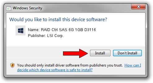 LSI Corp. RAID Ctrl SAS 6G 1GB D3116 driver installation 245204
