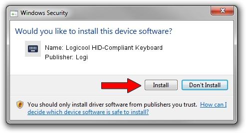Logi Logicool HID-Compliant Keyboard driver installation 2014223