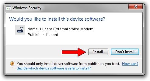 Lucent Lucent External Voice Modem driver installation 1439894