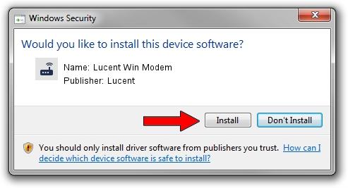Lucent Lucent Win Modem driver installation 1387130