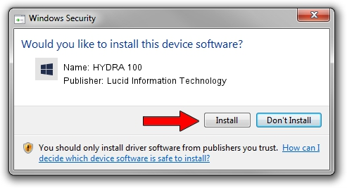Lucid Information Technology HYDRA 100 driver installation 1572361