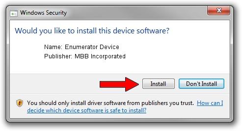 MBB Incorporated Enumerator Device driver installation 1403157