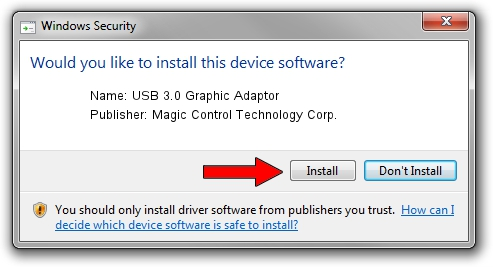 Magic Control Technology Corp. USB 3.0 Graphic Adaptor setup file 1321479