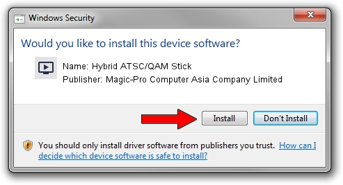 Magic-Pro Computer Asia Company Limited Hybrid ATSC/QAM Stick driver installation 1638295