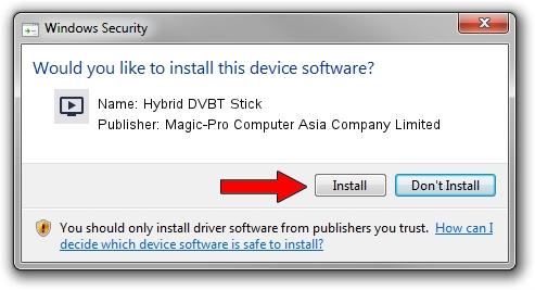 Magic-Pro Computer Asia Company Limited Hybrid DVBT Stick setup file 1638284