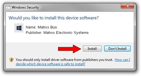 Matrox Electronic Systems Matrox Bus setup file 1424949