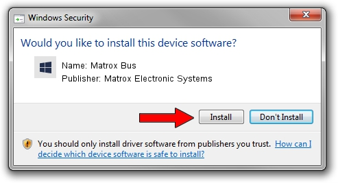 Matrox Electronic Systems Matrox Bus driver installation 1424963
