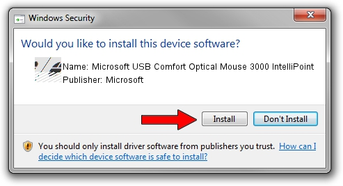 Microsoft Microsoft USB Comfort Optical Mouse 3000 IntelliPoint driver installation 1211161