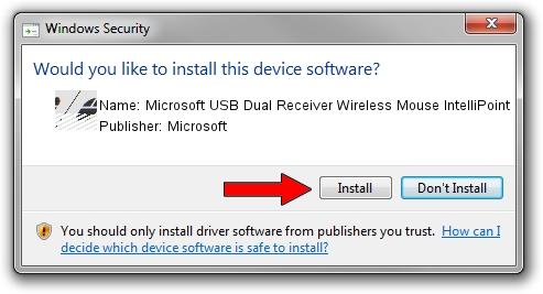 Microsoft Microsoft USB Dual Receiver Wireless Mouse IntelliPoint driver installation 1211212