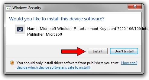 Microsoft Microsoft Wireless Entertainment Keyboard 7000 106/109 IntelliType Pro driver download 1412010