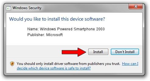 Microsoft Windows Powered Smartphone 2003 driver download 1384167