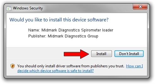 Midmark Diagnostics Group Midmark Diagnostics Spirometer loader setup file 1389692