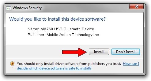 Mobile Action Technology Inc. MA760 USB Bluetooth Device setup file 2098335