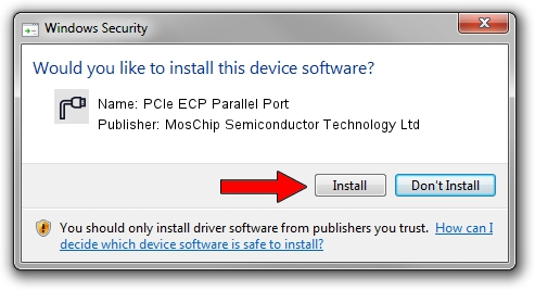 MosChip Semiconductor Technology Ltd PCIe ECP Parallel Port driver installation 1402705