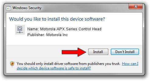 Motorola Inc Motorola APX Series Control Head setup file 1638003