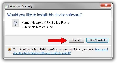 Motorola Inc Motorola APX Series Radio driver installation 1638016