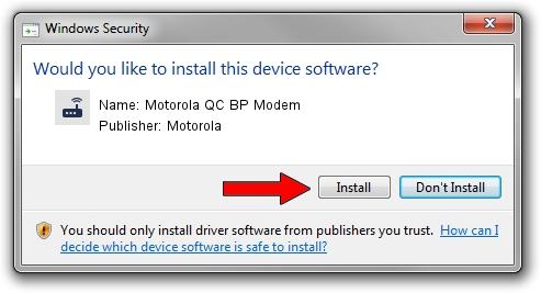 Motorola Motorola QC BP Modem driver installation 1385647