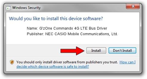 NEC CASIO Mobile Communications, Ltd. G'zOne Commando 4G LTE Bus Driver setup file 1435149