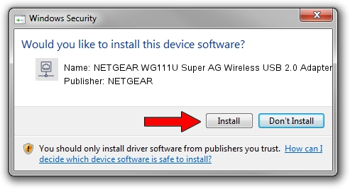 NETGEAR NETGEAR WG111U Super AG Wireless USB 2.0 Adapter setup file 1432083