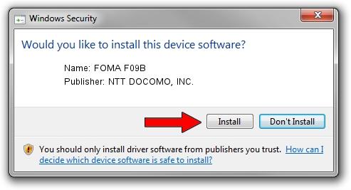 NTT DOCOMO, INC. FOMA F09B setup file 1639100