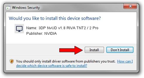 NVIDIA 3DP NvUD v1.8 RIVA TNT2 / 2 Pro setup file 1264215