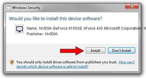 Download and install NVIDIA NVIDIA GeForce 6150SE nForce 430
