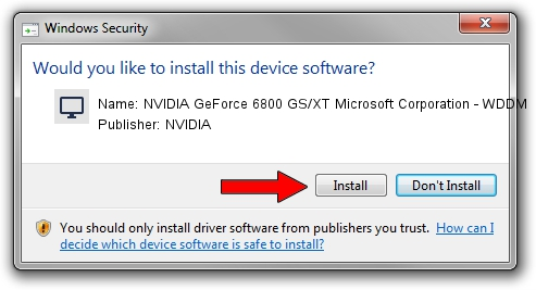 NVIDIA NVIDIA GeForce 6800 GS/XT Microsoft Corporation - WDDM driver download 1209120