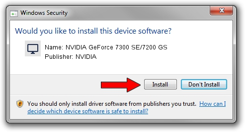 NVIDIA NVIDIA GeForce 7300 SE/7200 GS driver installation 42740
