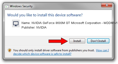 NVIDIA NVIDIA GeForce 8600M GT Microsoft Corporation - WDDM v1.2 setup file 1324036
