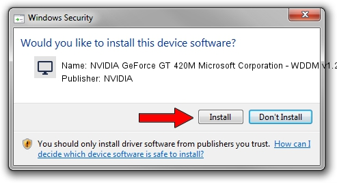 NVIDIA NVIDIA GeForce GT 420M Microsoft Corporation - WDDM v1.2 driver installation 1382407