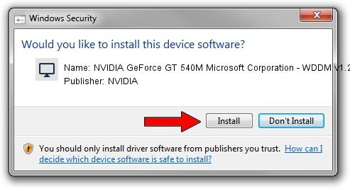 NVIDIA NVIDIA GeForce GT 540M Microsoft Corporation - WDDM v1.2 driver installation 1382403