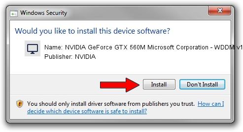 NVIDIA NVIDIA GeForce GTX 560M Microsoft Corporation - WDDM v1.2 setup file 1439791
