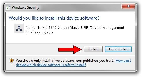 Nokia Nokia 5610 XpressMusic USB Device Management driver download 1211056