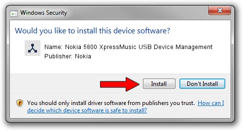 Nokia Nokia 5800 XpressMusic USB Device Management setup file 1387776